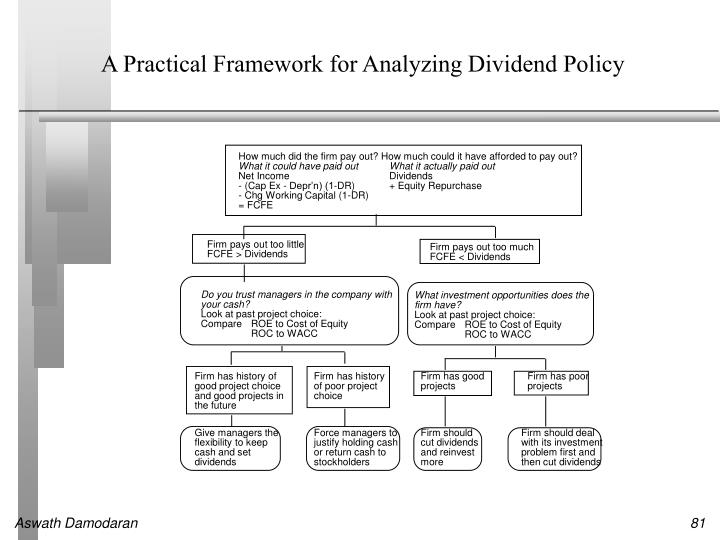 A Practical Framework for Analyzing Dividend Policy