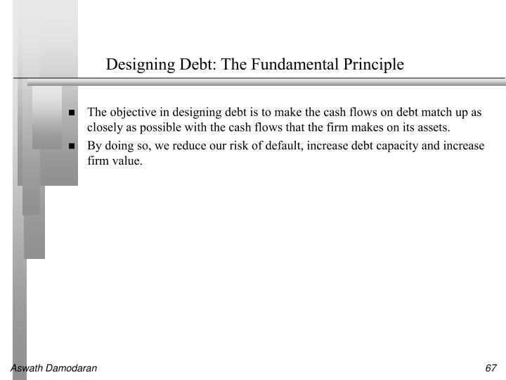 Designing Debt: The Fundamental Principle