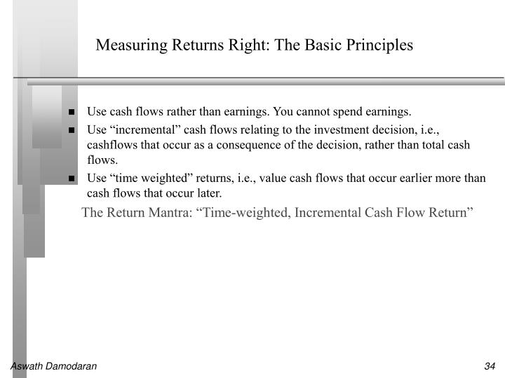 Measuring Returns Right: The Basic Principles