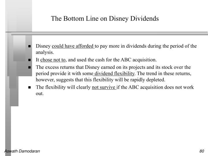 The Bottom Line on Disney Dividends