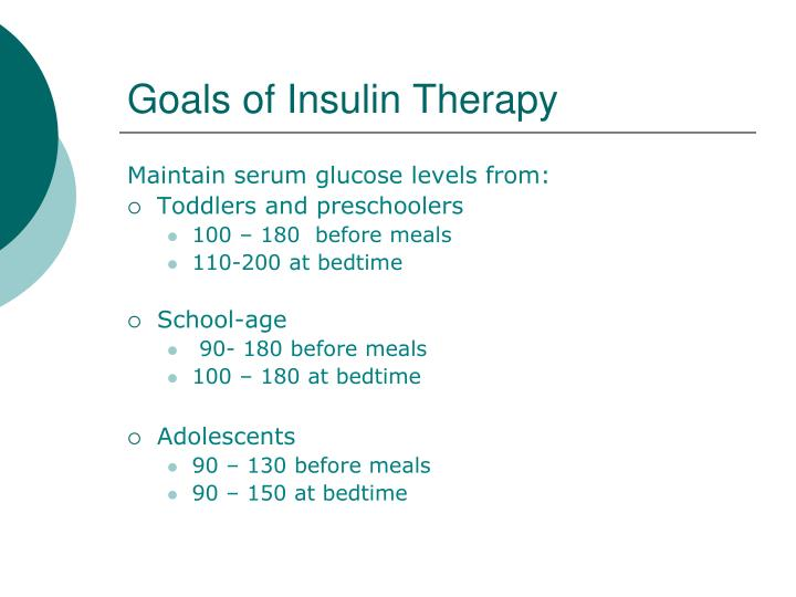 Goals of Insulin Therapy
