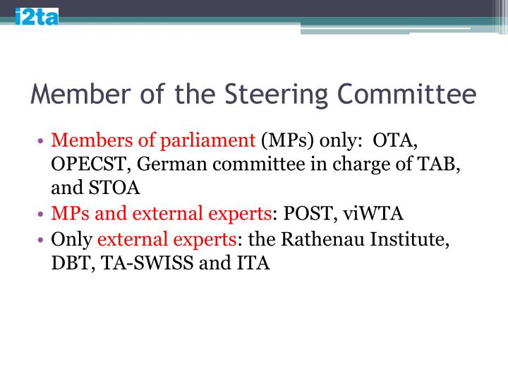 Member of the Steering Committee