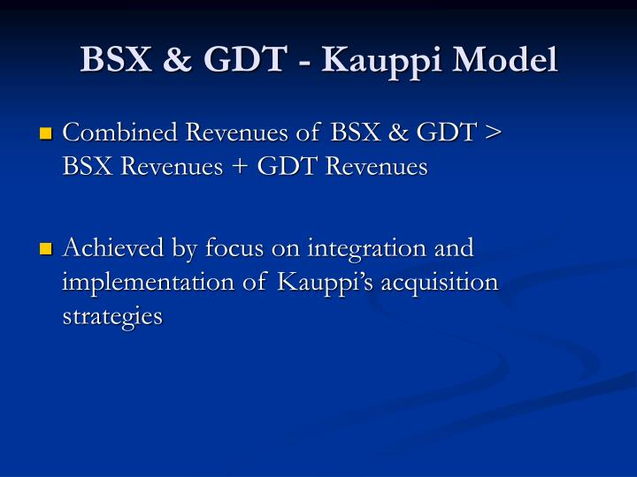 BSX & GDT - Kauppi Model