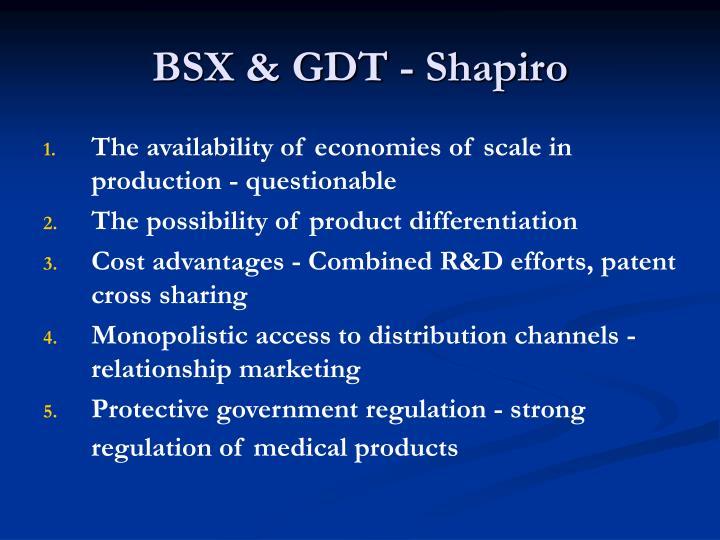 BSX & GDT - Shapiro