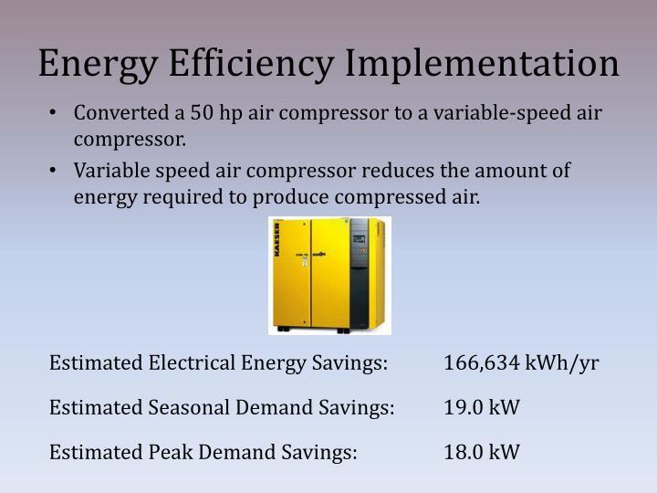 Energy Efficiency Implementation