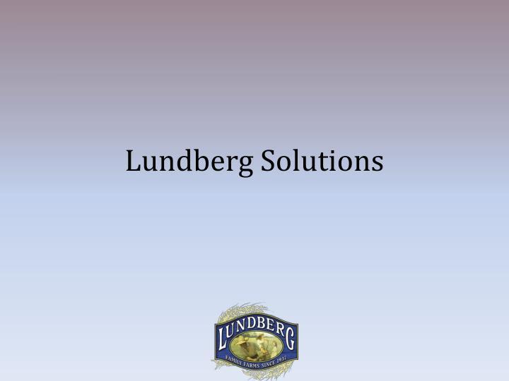 Lundberg Solutions