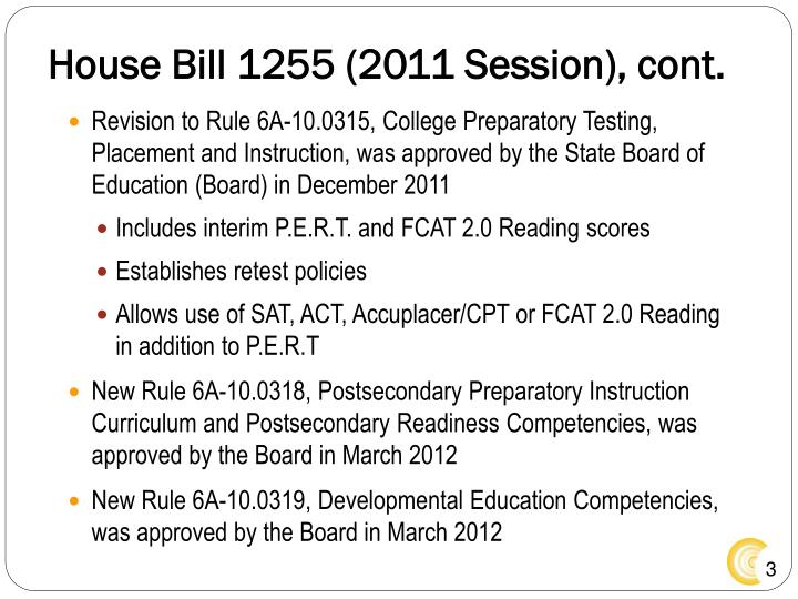 House bill 1255 2011 session cont
