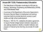 house bill 7135 postsecondary education