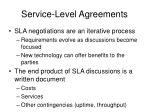 service level agreements1