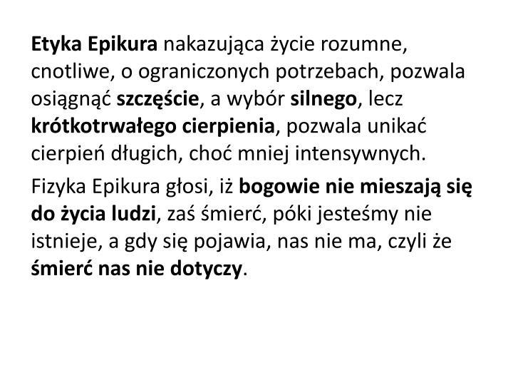 Etyka Epikura