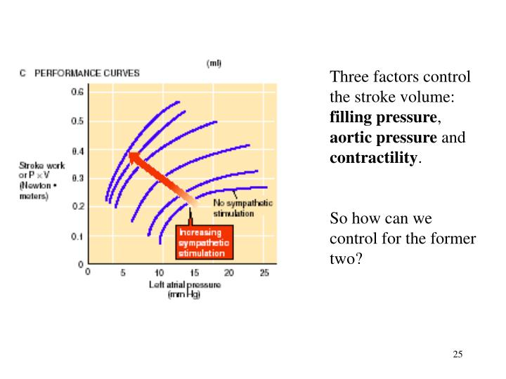 Three factors control the stroke volume:
