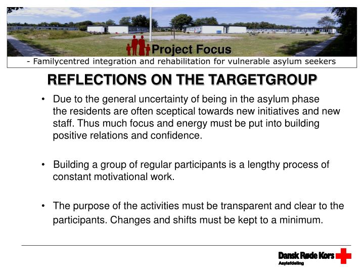 REFLECTIONS ON THE TARGETGROUP