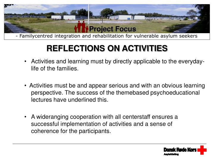 REFLECTIONS ON ACTIVITIES