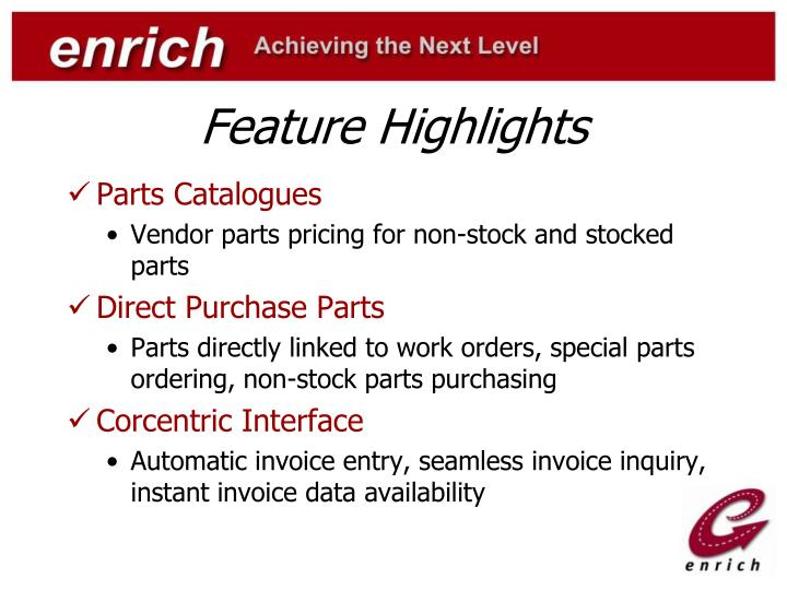 Feature Highlights