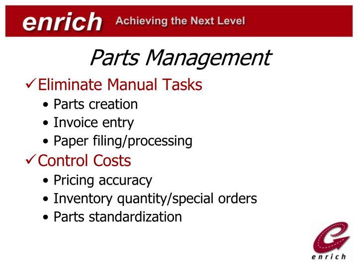 Parts Management