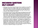 discussion questions self concept