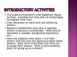 introductory activities