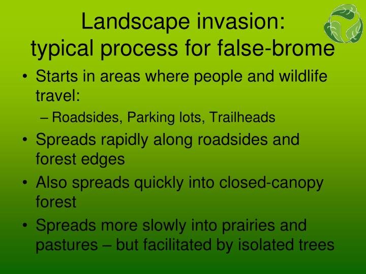 Landscape invasion: