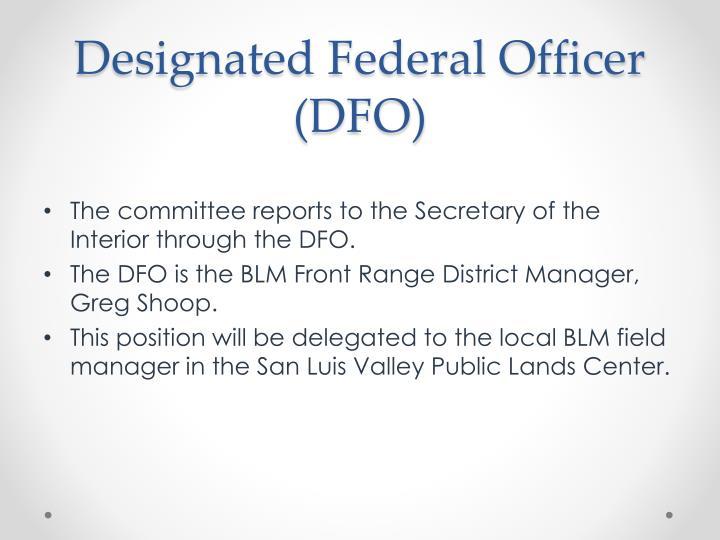 Designated Federal Officer (DFO)