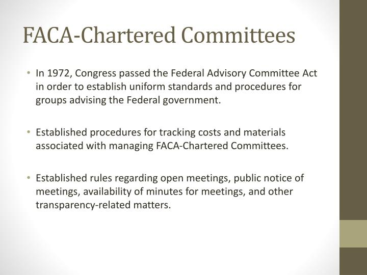 Faca chartered committees