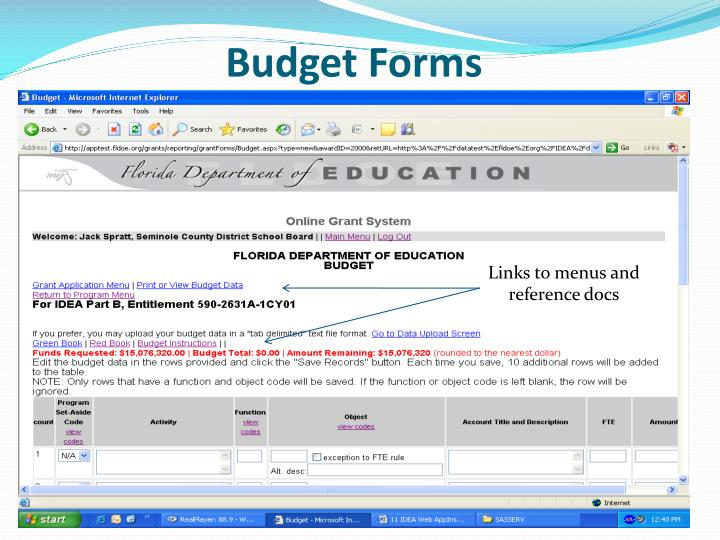 Budget Forms