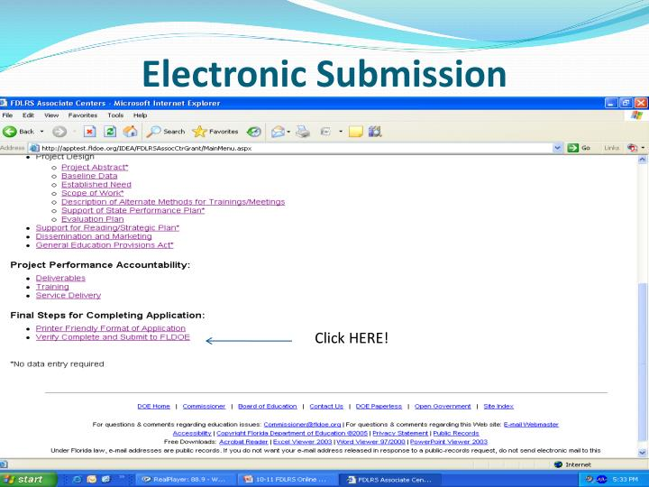 Electronic Submission