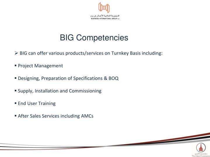 BIG Competencies