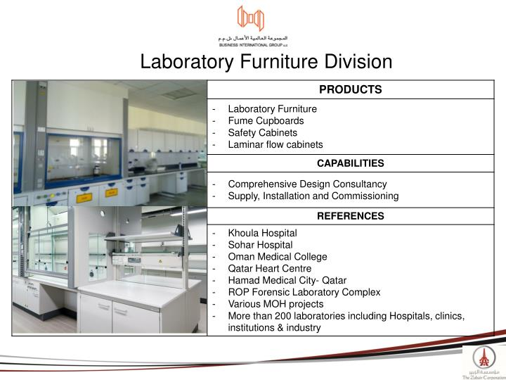 Laboratory Furniture Division