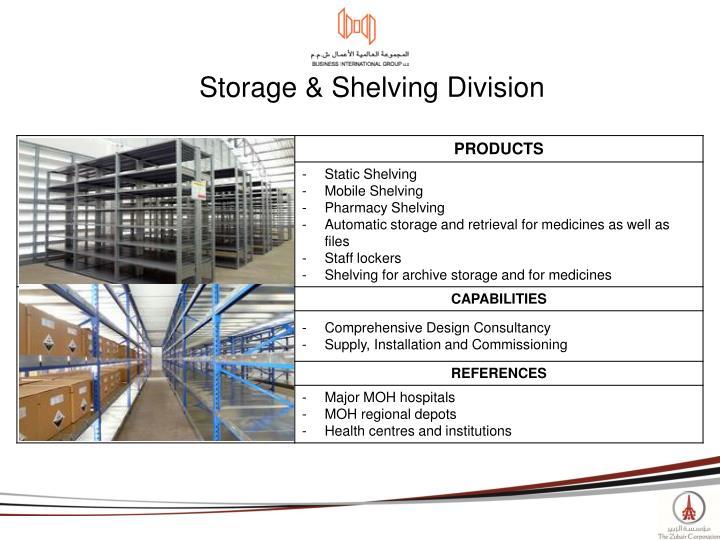 Storage & Shelving Division