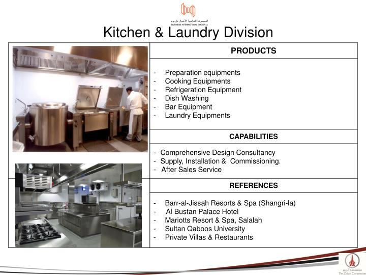 Kitchen & Laundry Division