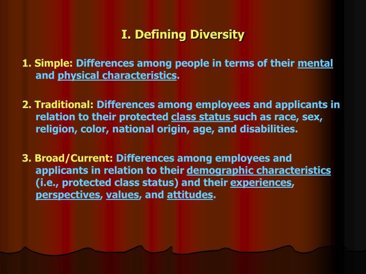 I. Defining Diversity