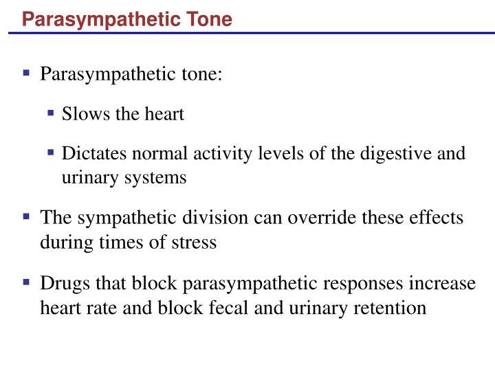 Parasympathetic Tone
