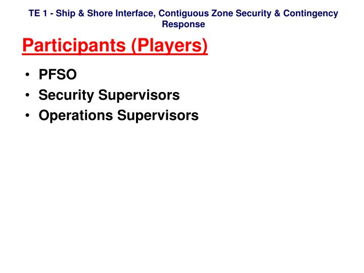 Participants (Players)