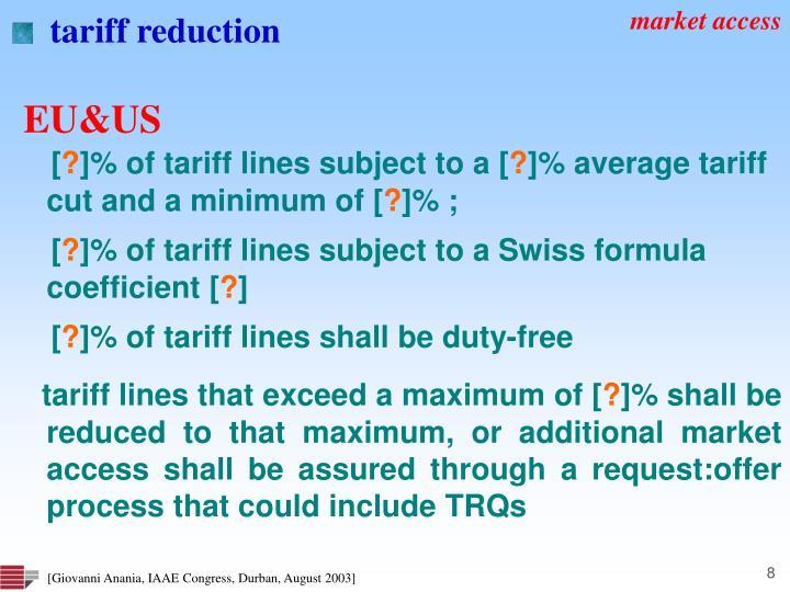 tariff reduction