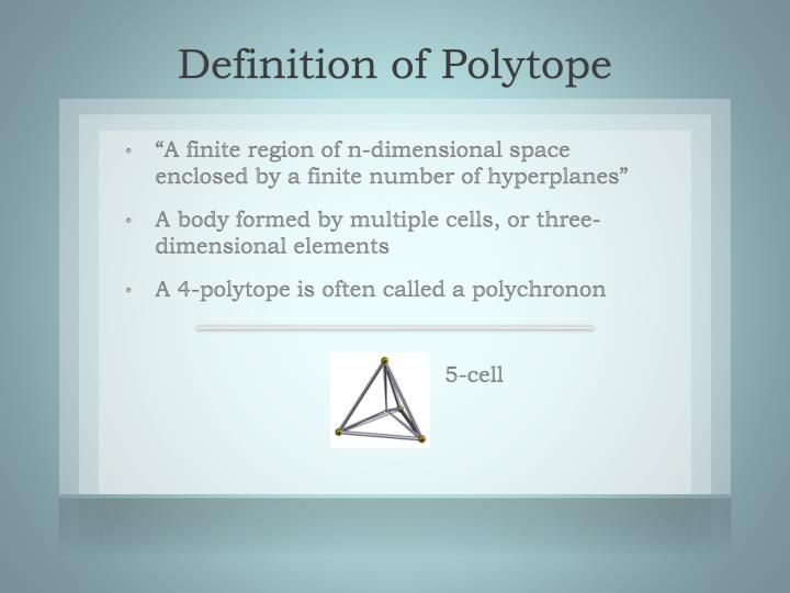 Definition of polytope