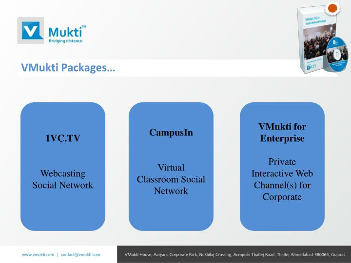 VMukti Packages…