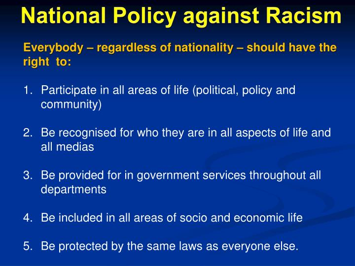 National Policy against Racism