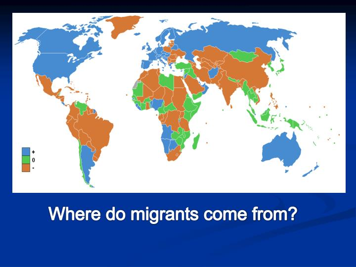 Where do migrants come from?