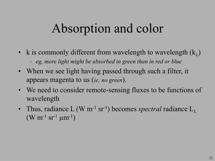 Absorption and color