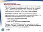 other important information healthy living initiatives