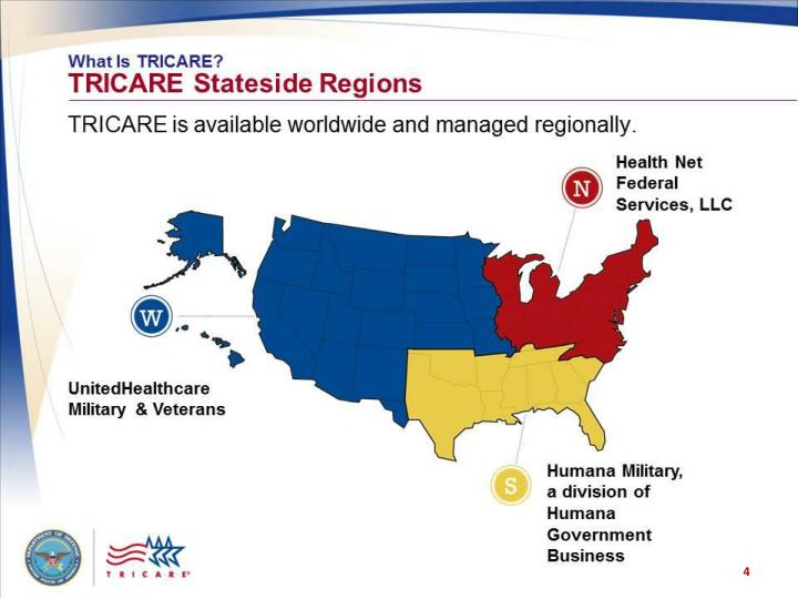 What is TRICARE? TRICARE Stateside Regions