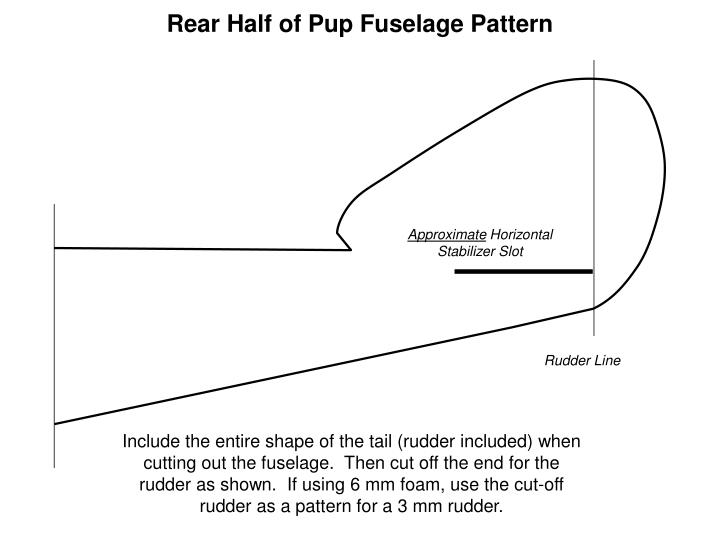 Rear Half of Pup Fuselage Pattern