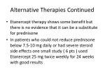 alternative therapies continued