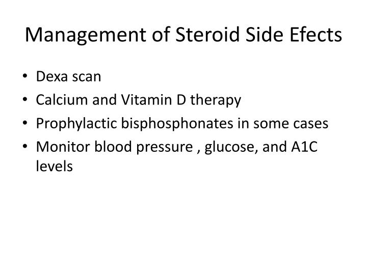 Management of Steroid Side