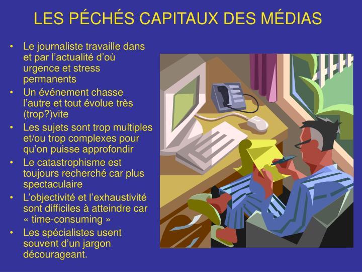 LES PÉCHÉS CAPITAUX DES MÉDIAS