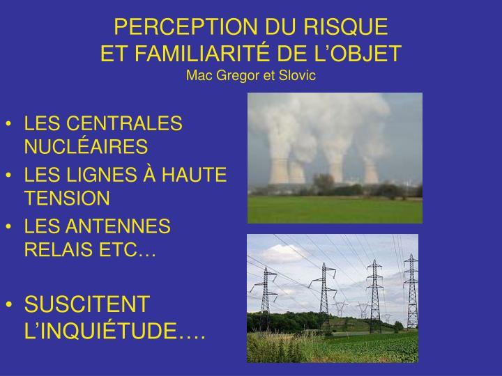PERCEPTION DU RISQUE