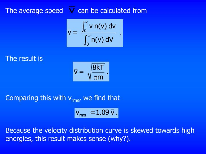 The average speed       can be calculated from