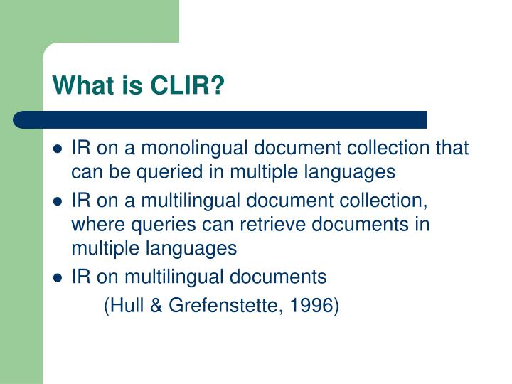 What is clir