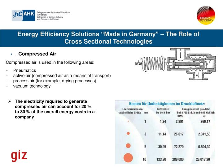 "Energy Efficiency Solutions ""Made in Germany"" – The Role of Cross Sectional Technologies"