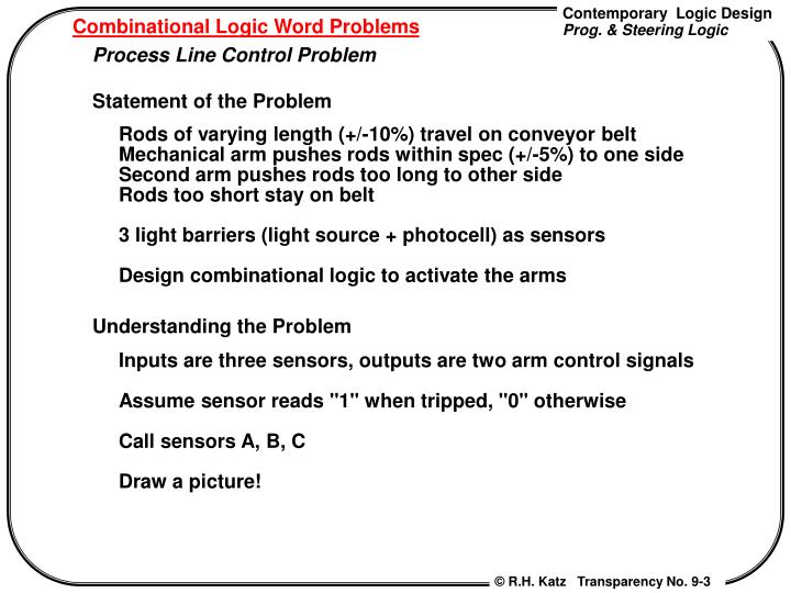 Combinational logic word problems1